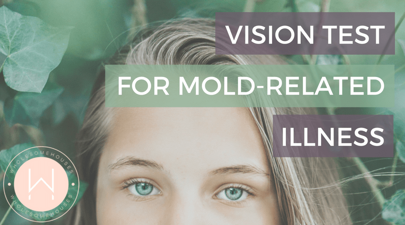 Woman's Eyes - Vision Test For Mold Related Illness
